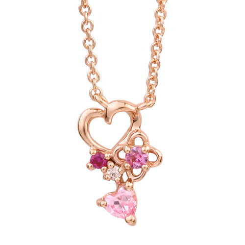 SV925 Heart Flower Necklace (95-2494)-Necklace-Jewels Japan