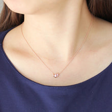 Load image into Gallery viewer, SV925 PInk gradation Heart Necklace (95-2496)-Necklace-Jewels Japan