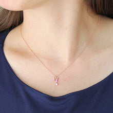 Load image into Gallery viewer, SV925 PInk gradation Heart Necklace (95-2497)-Necklace-Jewels Japan