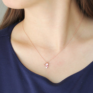 SV925 PInk gradation Heart Necklace (95-2499)-Necklace-Jewels Japan