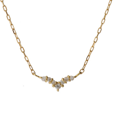 18 Karat Gold Diamond Heart Necklace (96-1009)-Necklace-Jewels Japan