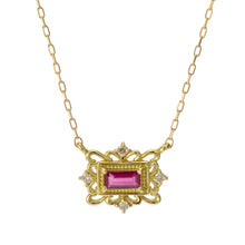 Load image into Gallery viewer, 18 Karat Gold Ruby Sapphire Necklace (96-1042-1043)-Necklace-Jewels Japan