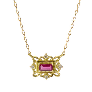 18 Karat Gold Ruby Sapphire Necklace (96-1042-1043)-Necklace-Jewels Japan