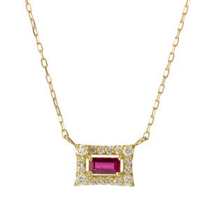 18 Karat Gold Ruby Sapphire Necklace (96-1044-1045)-Necklace-Jewels Japan