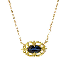 Load image into Gallery viewer, 18 Karat Gold Ruby Sapphire Necklace (96-1048-1049)-Necklace-Jewels Japan
