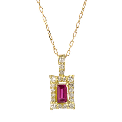 18 Karat Gold Ruby Sapphire Necklace (96-1052-1053)-Necklace-Jewels Japan