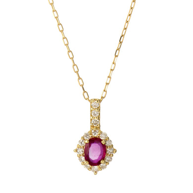 18 Karat Gold Ruby Sapphire Necklace (96-1054-1055)-Necklace-Jewels Japan