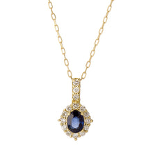 Load image into Gallery viewer, 18 Karat Gold Ruby Sapphire Necklace (96-1054-1055)-Necklace-Jewels Japan