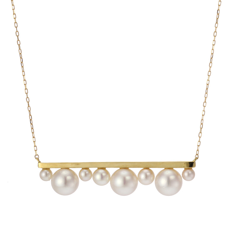 18 Karat Gold Akoya Pearl Necklace (96-1059)-Necklace-Jewels Japan