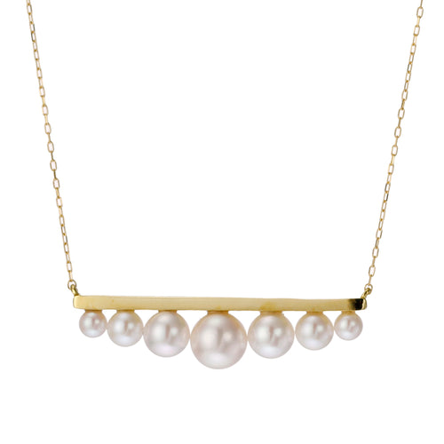 18 Karat Gold Akoya Pearl Necklace (96-1060)-Necklace-Jewels Japan