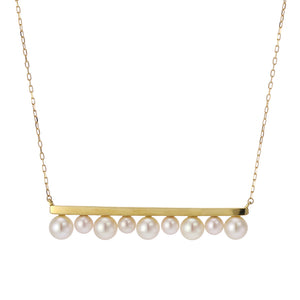 18 Karat Gold Akoya Pearl Necklace (96-1062)-Necklace-Jewels Japan