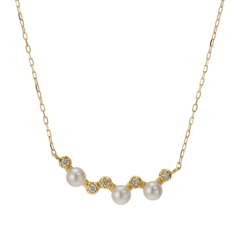 18 Karat Gold Akoya Pearl Necklace (96-1064)-Necklace-Jewels Japan
