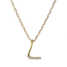 Load image into Gallery viewer, 18 Karat Gold Diamond Initial Necklace-Necklace-Jewels Japan