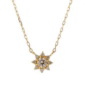 18 Karat Gold Diamond Birthstone Necklace (96-1095-1106)-Necklace-Jewels Japan
