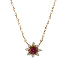 Load image into Gallery viewer, 18 Karat Gold Diamond Birthstone Necklace (96-1095-1106)-Necklace-Jewels Japan