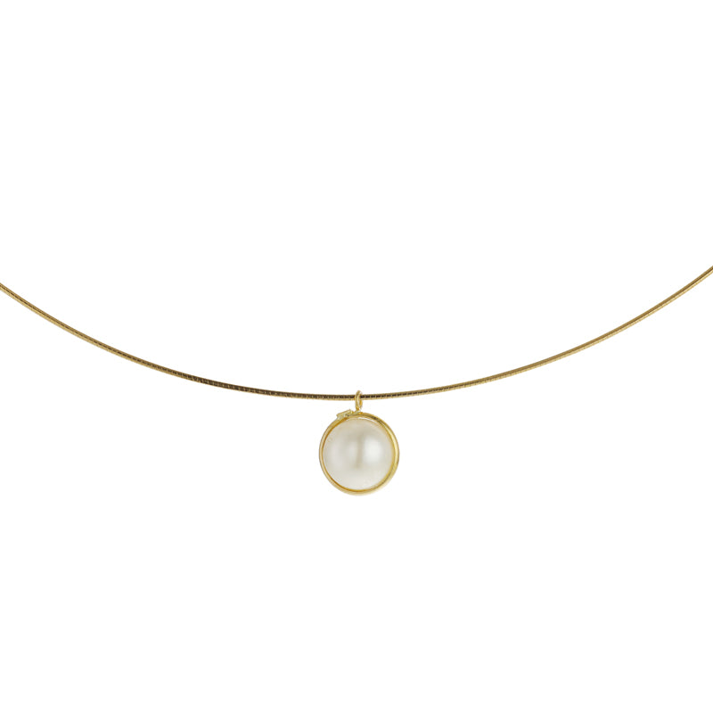 18 Karat Gold Akoya Pearl Necklace (96-1159)-Necklace-Jewels Japan