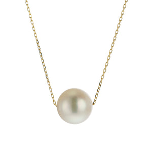 18 Karat Yellow Gold, Akoya Pearl Necklace (96-1160)