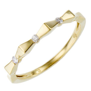18 Karat Gold Diamond Ring (96-2008-2009)-Ring-Jewels Japan