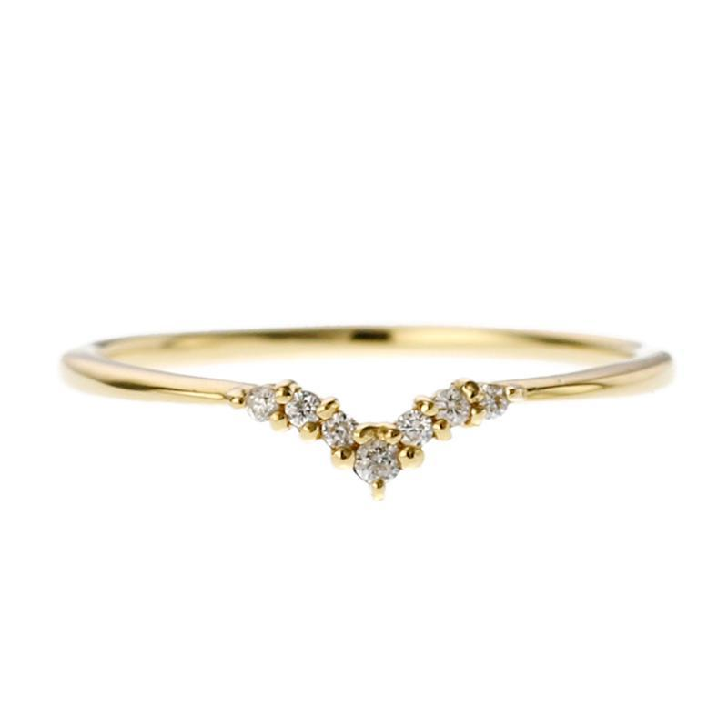 18 Karat Gold Diamond Heart Ring (96-2013)-Ring-Jewels Japan