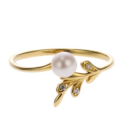 18 Karat Gold Akoya Pearl Ring (96-2043)-Ring-Jewels Japan
