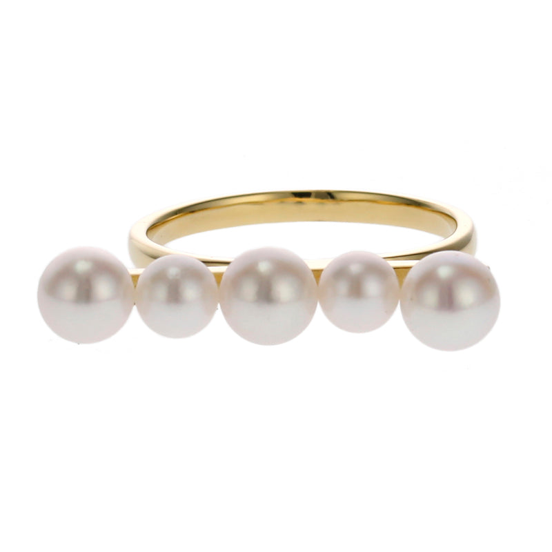18 Karat Gold Akoya Pearl Ring (96-2044)-Ring-Jewels Japan