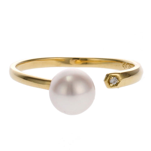 18 Karat Gold Akoya Pearl Ring (96-2045)-Ring-Jewels Japan