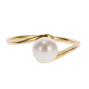 18 Karat Gold Akoya Pearl Ring (96-2046)-Ring-Jewels Japan