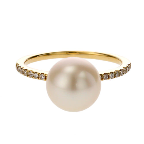 18 Karat Gold Akoya Pearl Ring (96-2047)-Ring-Jewels Japan