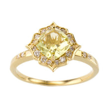 Load image into Gallery viewer, 18 Karat Gold Diamond Colorstone Ring-Ring-Jewels Japan
