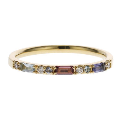 18 Karat Gold Color stone Ring (96-2098)-Ring-Jewels Japan