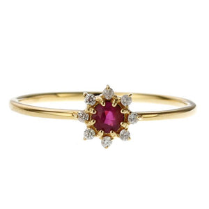 18 Karat Gold Diamond Birthstone Ring (96-2103-2114)-Ring-Jewels Japan