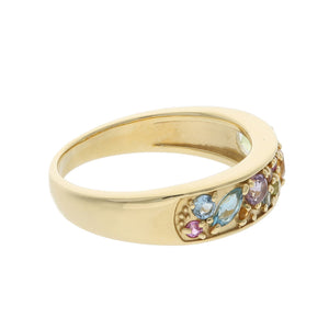 18 Karat Gold Color stone Ring 96-2209-Ring-Jewels Japan