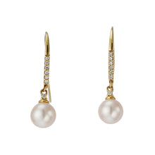 Load image into Gallery viewer, 18 Karat Gold Akoya Pearl Earrings (96-3024)-Earring-Jewels Japan
