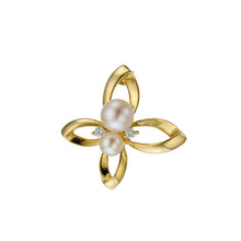 Load image into Gallery viewer, 18 Karat Gold Akoya Pearl Diamond Earrings (96-3025)-Earring-Jewels Japan