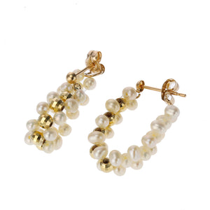 10 Karat Gold Fresh Water Pearl Earring (96-3031)-Earring-Jewels Japan