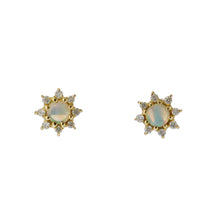 Load image into Gallery viewer, 18 Karat Gold Diamond Birthstone Earring (96-3040-3051)-Earring-Jewels Japan