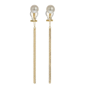 18 Karat Yellow Gold,  Akoya Pearl earring (96-3130)