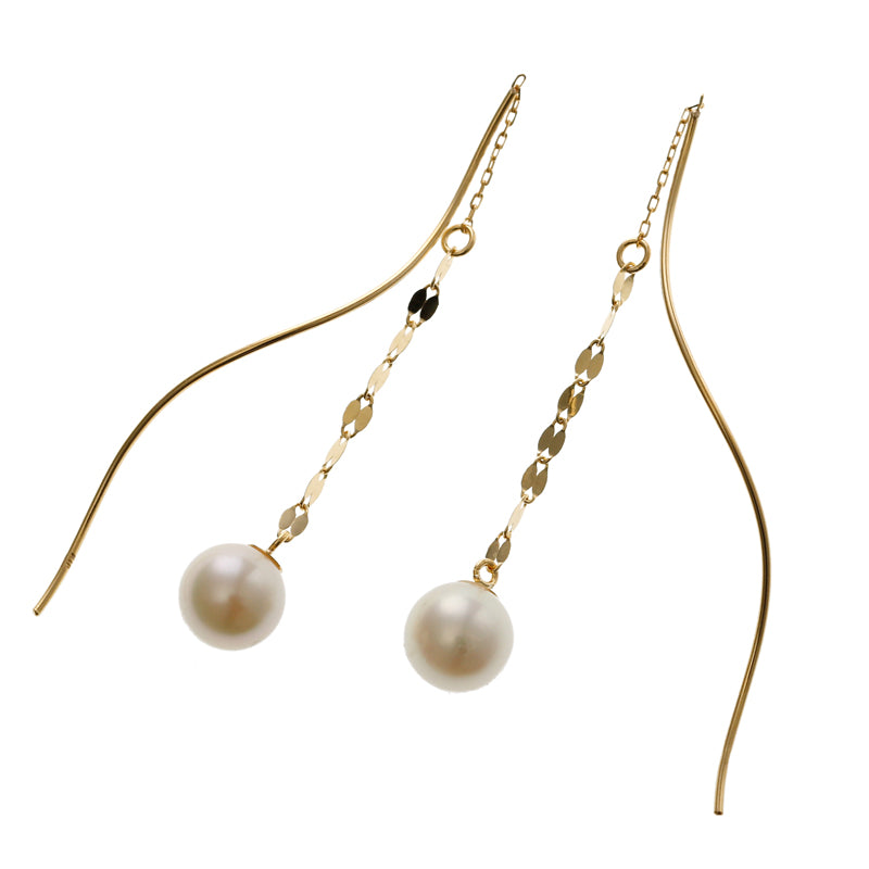 18 Karat Gold Akoya Pearl Earrings (96-3132)-Earring-Jewels Japan