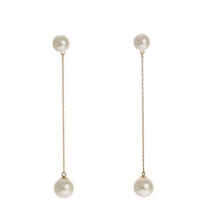 18 Karat Gold Akoya Pearl Earrings (96-3138)-Earring-Jewels Japan