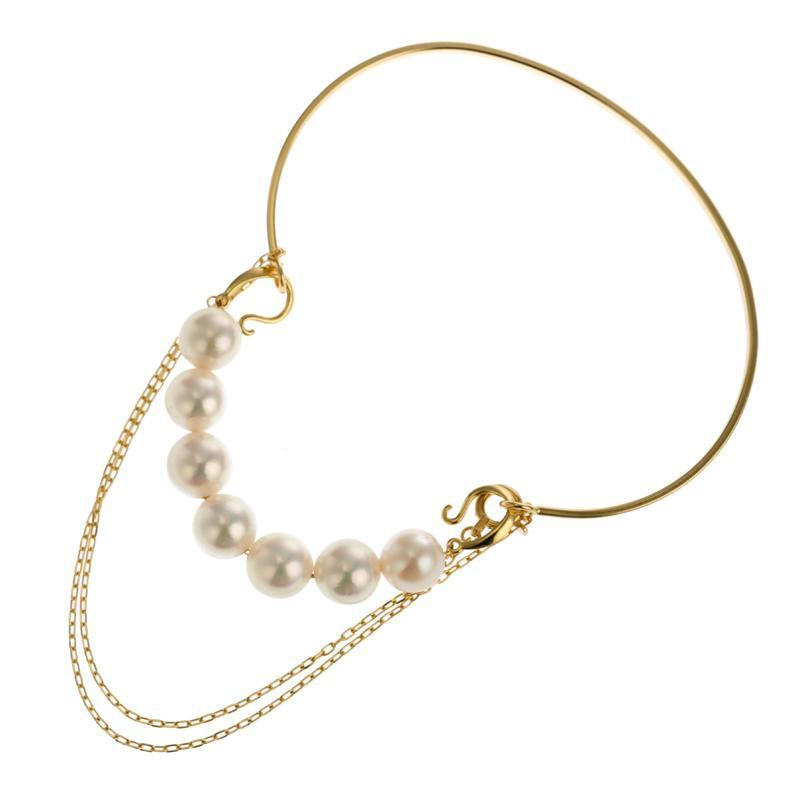 18 Karat Gold Akoya Pearl Bracelet 96-4026-Bracelet-Jewels Japan