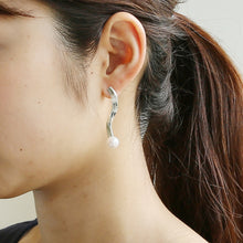 Load image into Gallery viewer, Silver925 Akoya Pearl Earrings (96-8001)-Earring-Jewels Japan