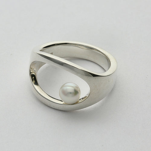 Silver925 Akoya Pearl Ring (96-8018)-Ring-Jewels Japan