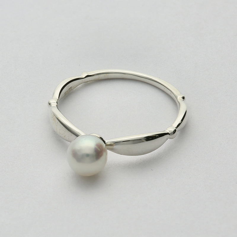 Silver925 Akoya Pearl Ring (96-8024)-Ring-Jewels Japan