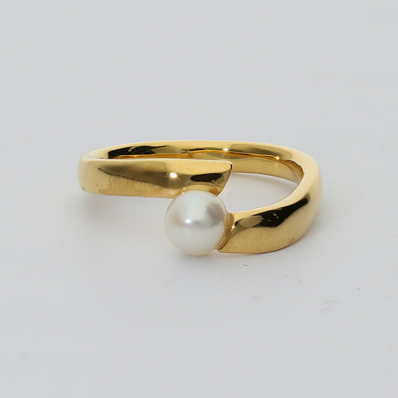 Silver925 Akoya Pearl Ring (96-8039)-Ring-Jewels Japan