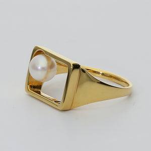 Silver925 Akoya Pearl Ring (96-8043)-Ring-Jewels Japan