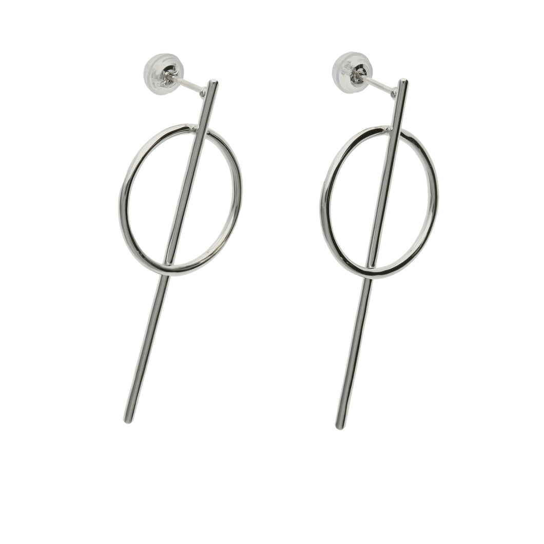 Silver925 Earring (96-8048)-Earring-Jewels Japan