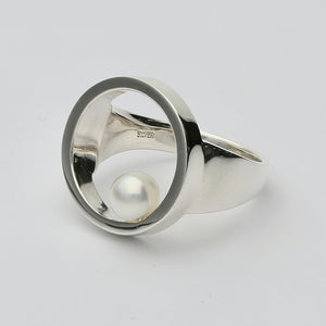 Silver925 Akoya Pearl Ring (96-8052)-Ring-Jewels Japan