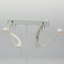 Load image into Gallery viewer, Silver925 Akoya Pearl Clip-on Earrings (96-8074)-Earring-Jewels Japan