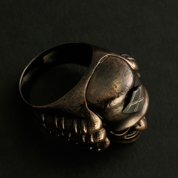 SAMURAI RING With HIDDEN SKULL (14-2359)-Ring-Samurai-Jewels Japan