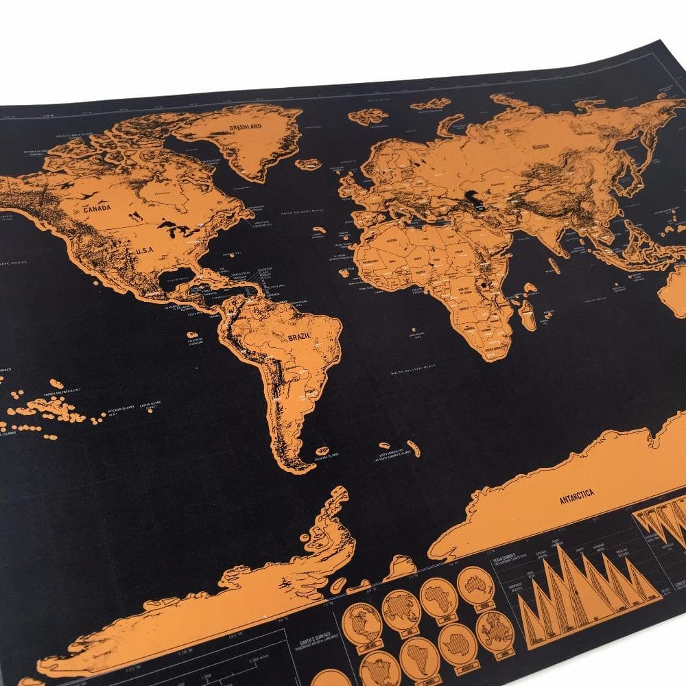 Travel the world scratch it map gold edition cherry oak travel the world scratch it map gold edition gumiabroncs Images